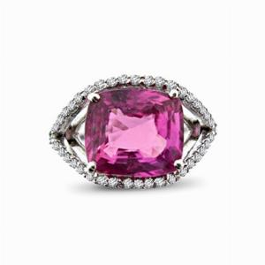 Pink Sapphire and Diamond Dress Ring 5.56ct